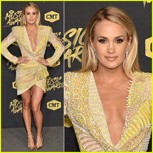 Carrie Underwood Lights Up CMT Music Awards 2018 in Yellow Dress
