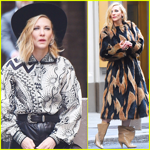 Cate Blanchett Dresses as Cowgirl on Set of Photo Shoot!