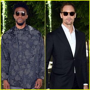 Chadwick Boseman & Alexander Skarsgard Are Studs Behind Shades at Louis Vuitton Show!