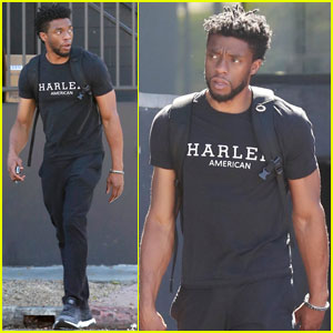 Chadwick Boseman Grabs Lunch With Friends in Los Angeles