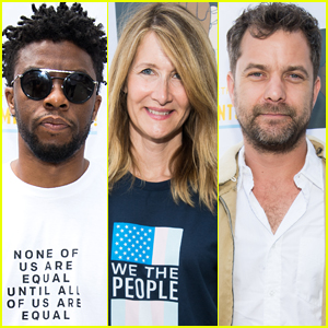 Chadwick Boseman, Laura Dern, & Joshua Jackson March in Families Belong Together Rally in L.A.