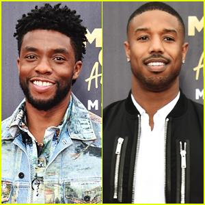 Chadwick Boseman & Michael B. Jordan Bring 'Black Panther' to MTV Movie & TV Awards 2018!
