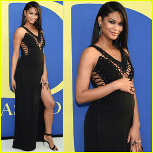 Chanel Iman Shows Off Her Baby Bump at CFDA Fashion Awards 2018!