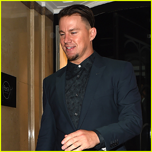 Channing Tatum Suits Up for Night Out in London!