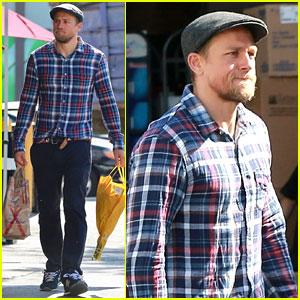 Charlie Hunnam Picks Up Groceries After Arriving Back in L.A.
