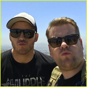 Chris Pratt & James Corden Go on a Hike - Watch Now!