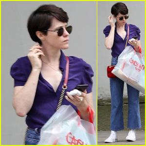 Claire Foy Goes Shopping at a Toy Store While in London!