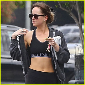 Dakota Johnson Flashes Toned Body After a Workout