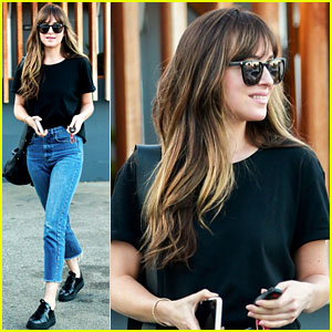 Dakota Johnson's Hair Looks Perfect After a Salon Visit!