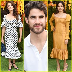 Darren Criss Joins Penelope Cruz & Frieda Pinto at Veuve Clicquot Polo Classic 2018!