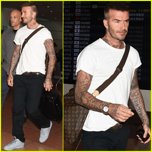 David Beckham Cheers on England During the World Cup!