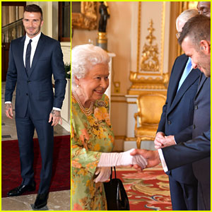 David Beckham Greets the Queen at Young Leaders Event