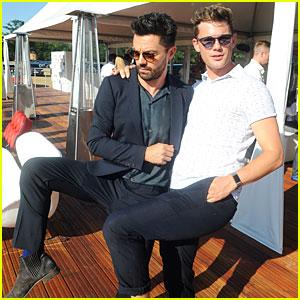 'Mamma Mia' Stars Dominic Cooper & Jeremy Irvine Goof Off at Audi Polo Challenge
