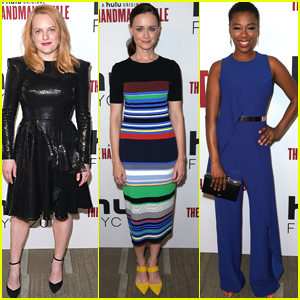 Elisabeth Moss Joins Alexis Bledel & Samira Wiley 'Handmaid's Tale' Event!