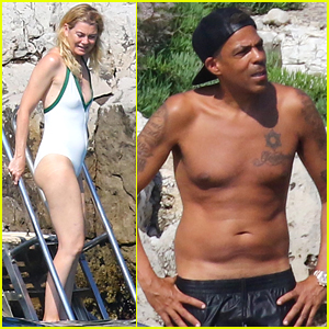 Ellen Pompeo & Husband Chris Ivery Show Off Beach Bodies in France!