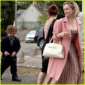 Emilia Clarke & Peter Dinklage Arrive Together at Kit Harington & Rose Leslie's Wedding