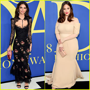 Emily Ratajkowski & Ashley Graham Make Elegant Arrivals at CFDA Fashion Awards 2018