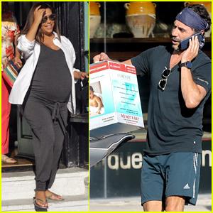 Eva Longoria & Jose Baston Pick Up Baby Supplies in L.A.
