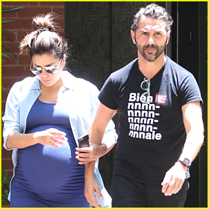 Eva Longoria & Husband Jose Baston Stop by Doctor's Office in Beverly Hills