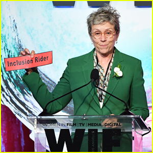 Frances McDormand Doubles Down on Inclusion Riders at Women In Film Crystal + Lucy Awards 2018!