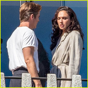 Gal Gadot & Chris Pine Film an Argument Between Wonder Woman & Steve Trevor
