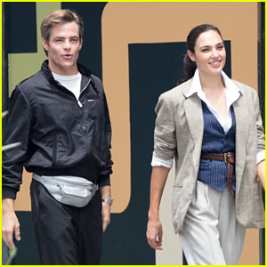 Gal Gadot & Chris Pine Reunite on 'Wonder Woman 1984' Set - First Photos!