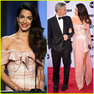 Amal Clooney Speaks Publicly About George for First Time, Brings Him to Tears at AFI Tribute (Video)