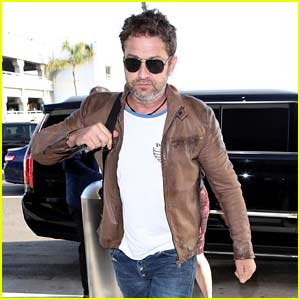 Gerard Butler Catches Flight Out of Town in New Photos