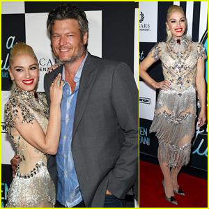 Gwen Stefani Gets Support from Blake Shelton at 'Just A Girl' Las Vegas Residency Grand Opening!