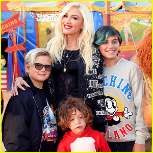 Gwen Stefani Brings Her Three Kids to Moschino Fashion Show