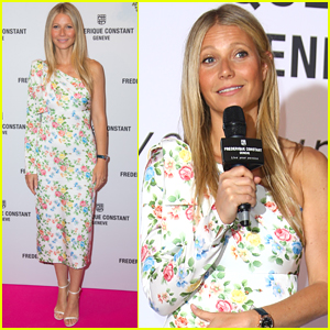 Gwyneth Paltrow Goes Pretty in Florals for Watch Collection Launch Party!