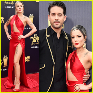 Halsey Cozies Up to G-Eazy at MTV Movie & TV Awards 2018
