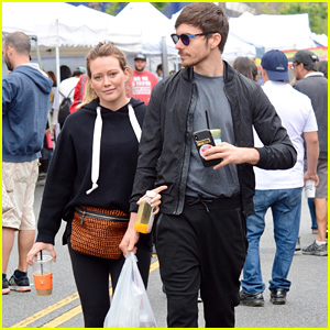 Pregnant Hilary Duff & Boyfriend Matthew Koma Check Out the Farmer's Market in LA!