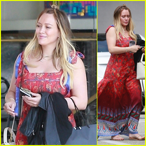 Hilary Duff Steps Out Just Before Announcing Her Second Pregnancy!