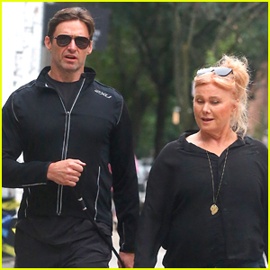 Hugh Jackman & Deborra Lee Furness Take their Pups for a Walk in NYC!