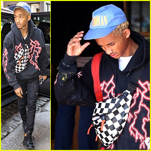 Jaden Smith Rocks a 'Woman' Hat While Leaving Paris