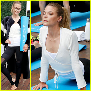 Jaime King Hosts a Yoga Class, Encourages Fans to Focus on Self-Care
