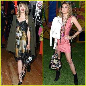 Jaime King & Paris Jackson Attend Circus-Themed Moschino Fashion Show