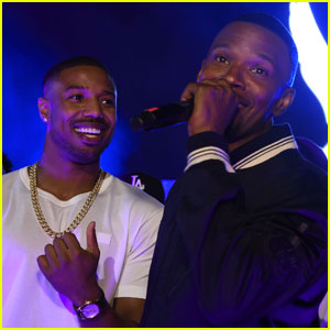 Michael B. Jordan Celebrates BET Awards Win at Jamie Foxx's After Party!