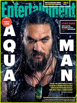 Jason Momoa Is Soaking Wet as Aquaman for 'EW' Cover