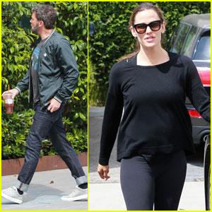 Jennifer Garner Stops By Ben Affleck's Office in LA