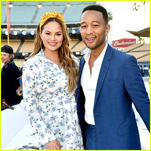 John Legend & Chrissy Teigen Attend Los Angeles Dodgers Foundation Blue Diamond Gala 2018!
