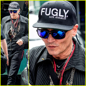 Johnny Depp Stops to Sign Autographs for Fans in Germany
