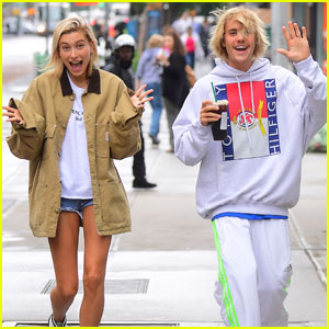 Justin Bieber & Hailey Baldwin Get Silly During Starbucks Run