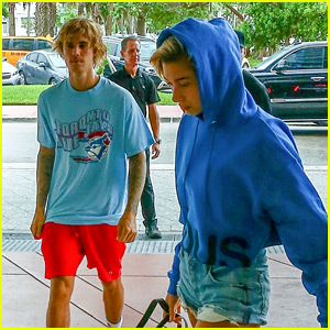Justin Bieber & Hailey Baldwin Grab Lunch Together in Miami