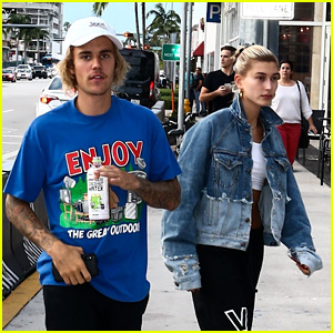 Justin Bieber & Hailey Baldwin Go to the Movies Together in Miami!