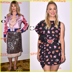 Kaley Cuoco & January Jones Support Step Up at Inspiration Awards!