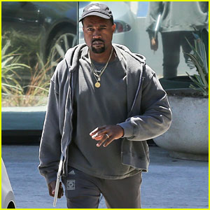 Kanye West Rocks His Adidas Gear for Business Meeting