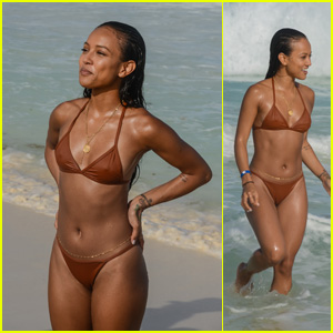 Karrueche Tran Looks Hot in a Bikini Celebrating Her 30th Birthday in Cancun!