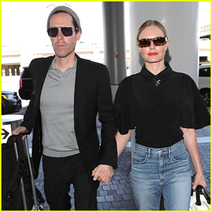 Kate Bosworth & Husband Michael Polish Hold Hands in LAX Airport